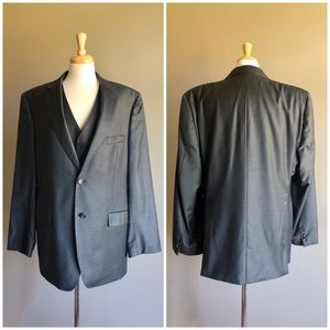 Ralph Lauren Charcoal Grey Wool Slim 3-Piece Suit